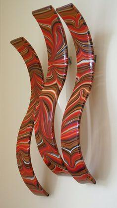 art glass wall art