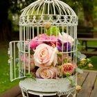 floral bird cage decoration