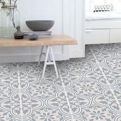 Vinyl Floor Tile Sticker - Floor decals - Carreaux Ciment Encaustic Trefle 2 Tile Sticker Pack in Sand Floor Decal, Floor Stickers, Taupe Bathroom, Bathroom Tiling, Bathrooms, Bathroom Vinyl, Bathroom Remodeling, Bathroom Ideas, Stickers