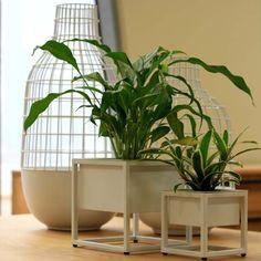 N710W Metal Table Planters set of 2