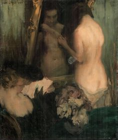 "János Vaszary's ""Woman in front of the Mirror"", 1904"
