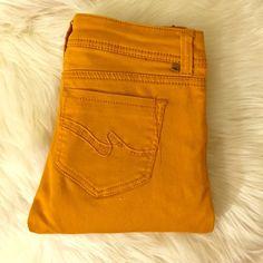 Pretty orange pants Skinny style, pretty orange color Almost Famous Pants Skinny