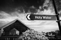 Holy Water Signpost At Knock Marian Shrine County Mayo Republic Of Ireland Photograph