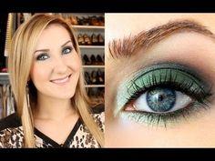 Emerald & Navy Makeup Tutorial & OOTD