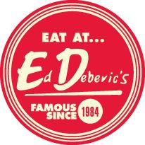 Ed Debevics - Famous Since 1984  This retro diner prides themselves on 50's style attire and sassy service. Gotta hit this place up if I trip to Chicago sometime.