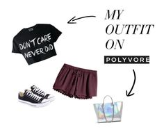 """""""summercolc22"""" by manuelbass ❤ liked on Polyvore featuring H&M, Converse and GUESS"""