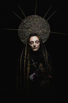 """Gianluca Palma – Lady of Sorrow"". Photographer: Gianluca Palma. Stylist/Headpiece/Accessories/Makeup: Carlo Papezzera Special Thanks: Romeur Academy"