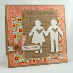 Journal It - For the Record, Document It - Off the Chart, Boy Meets Girl Die-namics, Rustic Hearts Die-namics, Accent It - Labels and Tabs Die-namics - Michele Boyer Love Anniversary, Anniversary Cards, Aniversary Gift, Aniversary Ideas, Valentine Day Cards, Valentines, Scrapbooking 101, Boy Meets Girl, Heart Cards
