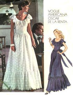 70s Vogue 1043 Designer Maxi Dress Pattern  by treazureddesignz, $9.95