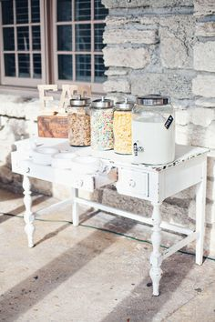 Cereal bar- cute concept with the glass containers