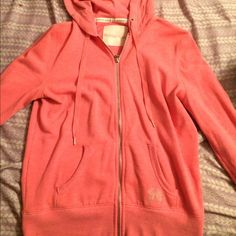 VS Angels Zip up Haven't worn that much. I love it! Just don't get use out of it. It is in very good condition besides a mark on one of the sleeves. Has the angel wings on back, and small one on pocket (all jewels still attatched) Victoria's Secret Tops