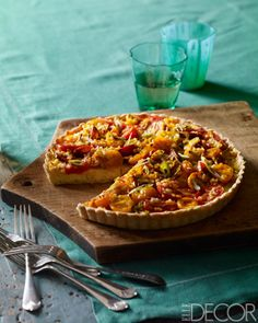 Heirloom Tomato Tart: Corn and tomatoes are at their peak, so it's the ideal time for a dish that elevates both to new heights.