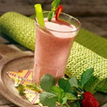 Sensational Strawberry-Mint Smoothie - The revitalizing flavor of fresh, plump strawberries blended with creamy yogurt, Carnation Instant Breakfast and fragrant mint makes this wholesome smoothie a real treat.