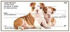 English Bulldog Puppies Personal Checks from Checks-SuperStore.com