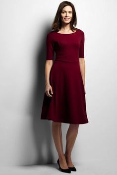 Love dresses like this. I have two in solid black, but I'd love it in burgundy or heather gray.