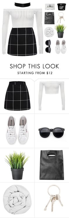 """""""Kindness is free sprinkle that stuff everywhere."""" by xilahax ❤ liked on Polyvore featuring Superga, Monki, The Fine Bedding Company, Givenchy, CASSETTE and ilaha"""