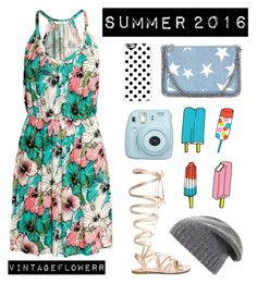 """""""Summer ~inspiration~"""" by vintageflowerr ❤ liked on Polyvore featuring H&M, Casetify, Gianvito Rossi, STELLA McCARTNEY, Tattly, BCBGMAXAZRIA, vintage, Summer and floral"""