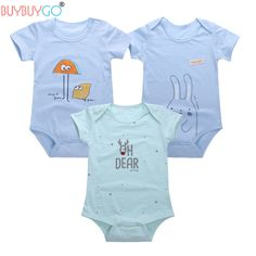 Aliexpress.com : Buy 3PCS/Lot 100% Cotton Baby Boys Girls Bodysuit 2017 Summer Breathable Overalls Infant Short Sleeve Ropa 6M 12M Jumpsuits Clothing from Reliable girl bodysuit suppliers on BUYBUYGO Official Store