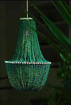 Como hacer una lámpara de araña con las manos.
