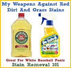 Pinner said:Unique method for getting red dirt stains off white baseball pants! {on Stain Removal so I will try this. Baseball pants red dirt is hard to get off Deep Cleaning Tips, House Cleaning Tips, Car Cleaning, Cleaning Hacks, Cleaning Products, Murphys Oil Soaps, Grass Stains, Baseball Pants, Baseball Mom
