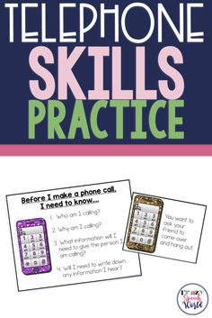 Telephone Skills Practice in Speech Therapy