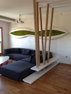 INDOOR MOSS WALL GARDENS THAT WILL BLOW YOUR MIND - Home Interior Designs Vertical Garden Plants, Vertical Gardens, Island Moos, Office Wall Design, Garden Wall Designs, Moss Decor, Sogetsu Ikebana, Futuristic Interior, Moss Wall