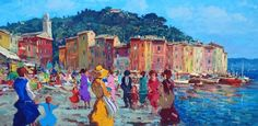 Portofino wall art canvas painting Art Painting by AgostinoVeroni