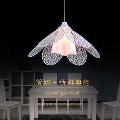 Fashion Iron Hollow Dining Room Pendant Lamp Bar Pendant Lamp Balcony Pendant Lamp