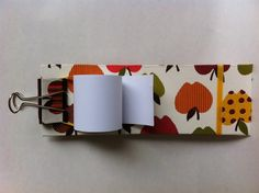 Roll over Notepad  #fabriccovered #notepad
