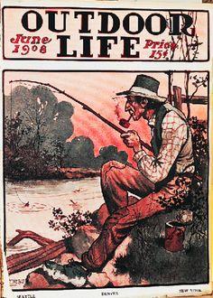 Outdoore Life June 1908 Fishing Magazines, Fishing Books, Hunting Magazines, Trout Fishing, Fly Fishing, Kayaking Near Me, Outdoor Life Magazine, Luftwaffe, Nostalgic Art
