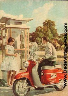 1961 model Manet scooter, photo taken in Brno, capital of Moravia.