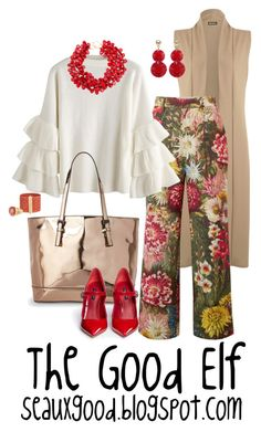 """""""The Good Elf      seauxgood.blogspot.com"""" by seauxgood on Polyvore featuring WearAll, Gucci, Urban Expressions, Dolce&Gabbana, Oscar de la Renta, Kenneth Jay Lane and Jacquie Aiche"""
