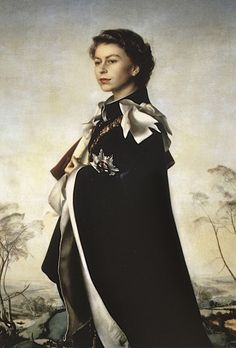 Pietro Annigoni, Queen Elizabeth II  Queen Regent, National Portrait Gallery London