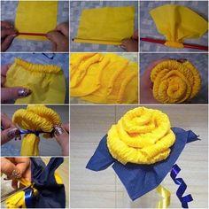 DIY Easy Napkin Paper Roses