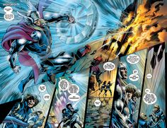 The Mighty Thor #18 page 2 spread (August 2012), pencils by Alan Davis