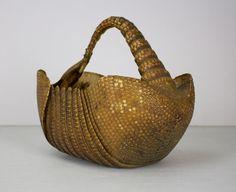 Vintage Armadillo Basket by zandbroz on Etsy