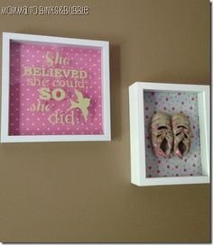 Love the idea of framing the kids first shoes