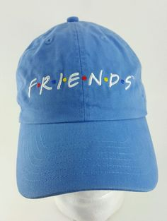 FRIENDS TV SHOW Cap Hat Good Condition Baseball Hat Blue #Unbranded #capballhatbaseball