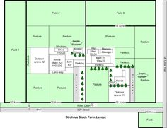 Strohfus Stock Farm Layout - Today, I am pinning a few farm layouts. How things are laid out is very important to the homestead!