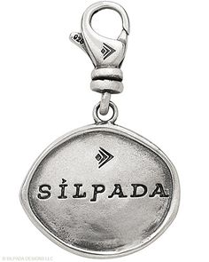 """Sterling Silver. Engraved with """"Live Life in Style"""" on reverse."""