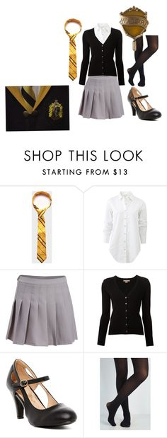"""Hogwarts Hufflepuff Head Girl Uniform"" by twisted-magic on Polyvore featuring rag & bone, Michael Kors and Chase & Chloe"