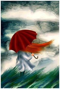 Дама и ветер