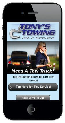 Mobile Landing Page Example by Academic Ads Ltd. Internet Marketing Agency, Mobile Marketing, Online Marketing, Mobile Landing Page, Landing Page Examples, Towing Company, Portfolio Website Design, Mobile Web Design, Tow Truck