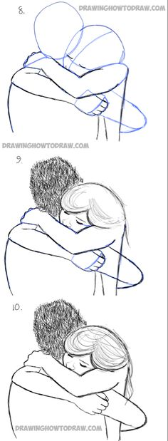 how to draw hugs in simple steps lesson drawing techniques How to Draw Two People Hugging : Drawing Hugs Step by Step Drawing Tutorial Pencil Drawing Tutorials, Pencil Art Drawings, Art Drawings Sketches, Easy Drawings, Art Tutorials, Horse Drawings, Drawings Of People Easy, How To Draw People, Drawing Lessons