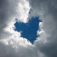 ...blue heart! Cœur ciel bleu nuage