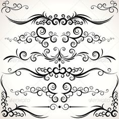 Floral Ornamnet #GraphicRiver Various Elegance Rule Lines and Corners – Decorative Elements for Your Design - vector illustration - vector objects grouped - pack include version AI, CDR , EPS, JPG Keywords: art, background, beautiful, brush, design, foliage, isolated, leaf, line, nostalgic, old, pattern, renaissance, revival, rule, set, sparse, tribal, vectors Created: 20March12 GraphicsFilesIncluded: JPGImage #VectorEPS #AIIllustrator Layered: No MinimumAdobeCSVersion: CS Tags: abstract…