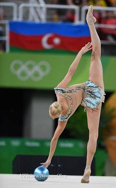 Yana KUDRYATSEVA (Russia) ~ Ball - SILVER MEDAL @ Olympic Games São Paulo-Brasil 2016  Photographer Oleg Naumov.