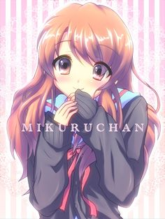 the melancholy of haruhi suzumiya, mikuru asahina (she's actually my least favourite brigade member, mostly because they haven't really given her much focus in the story yet...I think she has the potential to be an interesting character, though)