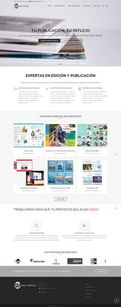 Nuevo proyecto en nuestro portafolio de páginas web, la de la joven editorial Bello y Martínez. #wordpress #webdesign
