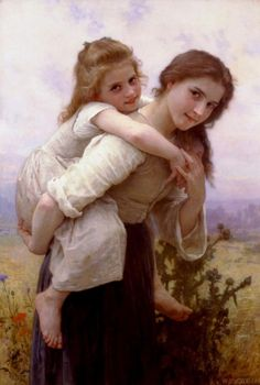 'lovely load' by William Adolphe Bouguereau - he had an amazing ability to capture facial expressions beautifully!  I could have a whole wall of nothing but his paintings.  (well, prints of them, obviously)